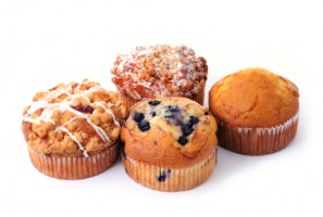 four delicious muffins